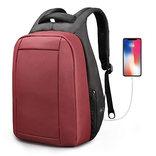 YMN Unisex reisrugzak, met USB-oplaadpoort en verborgen handvat waterdichte laptoptas, voor werken/school/reizen