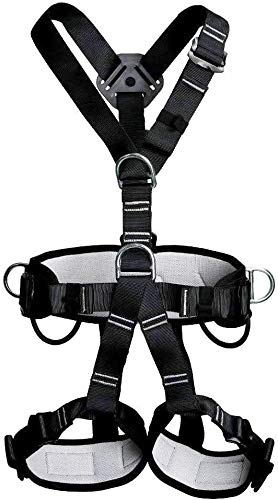 JTSYUXN Fallschutz-Set Absturzsicherung Vollkörper Auffanggurt Mehrzweck Mehrzweck Taille Hüfte Schutz Gürtel for Bergsteigen Outdoor