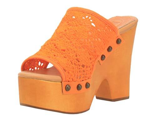 Dingo Western Shoes Womens Crafty Clog Leather 8 M Orange DI361