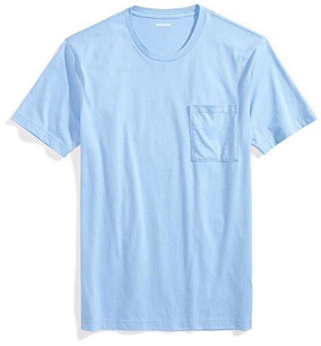 Goodthreads Men's Short-Sleeve Crewneck Cotton T-Shirt, Light Blue, Medium