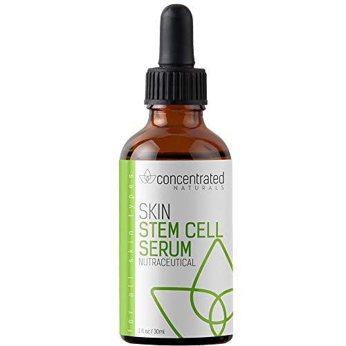 Nutraceutical Stem Cell Serum for Face with Seaweed Extract Hyaluronic Acid Fruit Stem Cell Extract Tea Blend Extract | May Help Hydrate Firm and Brighten Skin | 1 fl oz / 30 ml