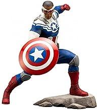 Gflyme Acción Anime Capitán América Original Sam Wilson Artfx 1/10 de PVC Toy Figura Brinquedos Figurals Modelo Regalo (Color : Without Box)