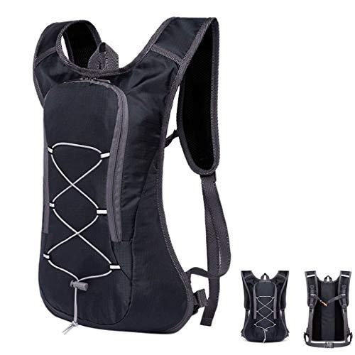 Amhomely - Mochila de ciclismo para bicicleta, impermeable, ultraligera, para senderismo, escalada, acampada, color negro, tamaño 45 x 28 x 3.5cm