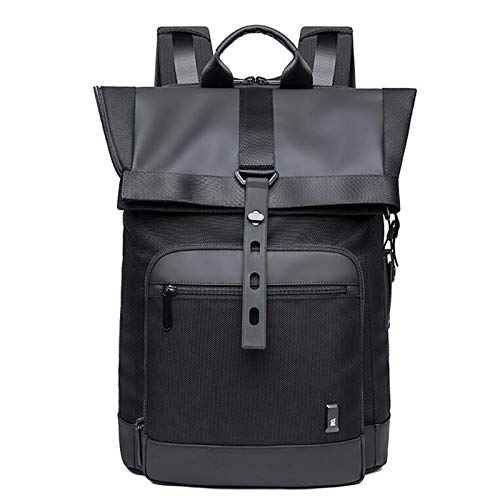 Jcnfa- Mochila Comercial Multifuncional, Bolsas de la Escuela de Viaje, Almacenamiento de masas, diseño de botón a presión, Bolsa de Laptop de 15.6 Pulgadas, 2 Colores