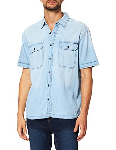 REPLAY M4061 Camisa, 010 Azul Claro, S para Hombre