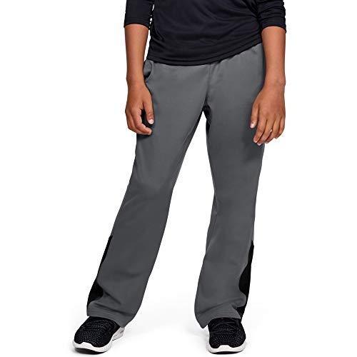 Under Armour boys Brawler 2.0 Training Pants, Graphite (040)/Black, Youth Medium