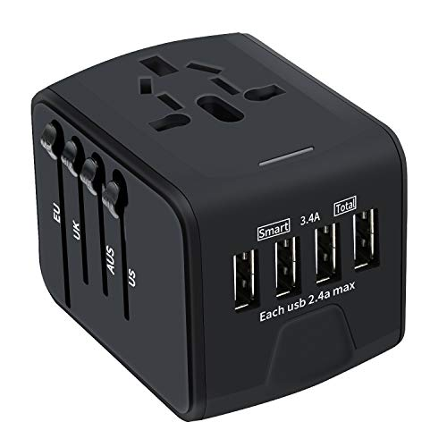 Universal Travel Adapter, Bobel All-in-one International Travel Power...