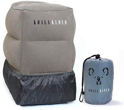 Koala Kloud Airplane Footrest - Inflatable Pillow for Kids Travel | Toddler Plane Accessories | Bed Pillows for Long Car Trips | 1st Class Airtravel &...