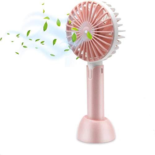 BAIBAO Mini Ventilador USB, COO Mini USB Ventilador de Mesa Recargable con Luz de Flash, Ventiladores de Escritorio Mesa para la Sala Ordenador Portátil Oficina Viaje y al Aire Libre etc (Pink)