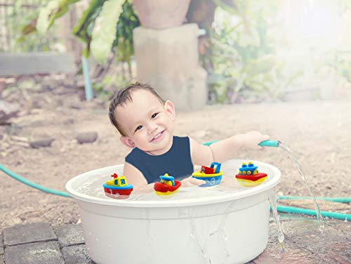 3 Bees & Me Bath Toys for Boys and Girls - Magnet Boat Set for...