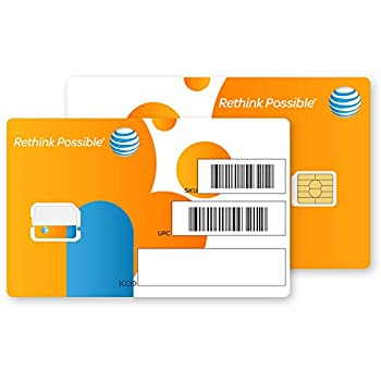 At&t Nano SIM Card for iPhone 5 5c 5s 6 6 Plus 7 8 X and iPad Air As Seen In the Picture