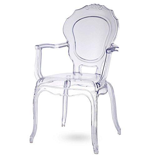 Damiware Broxster Stühle | Design Stühle Küche - Esszimmer - Wohnzimmer | Kristallklar Material | Brokant (Cristal)