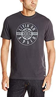 Life is good Men's Crusher Tee Living On A Pair (Night Black), X-Large
