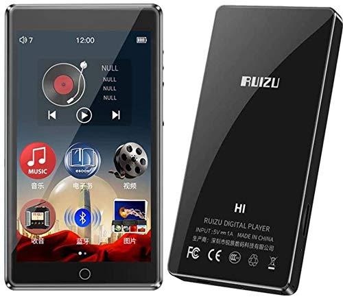 MP3-Player Bluetooth5.0 Eingebauter Lautsprecher 8 GB mit 4,0-Zoll-Voll-Touchscreen HiFi Verlustfreier Sound Musik-Player Unterstützung für FM-Radio, Aufnahme, E-Book, Video, Micro SD bis zu 128 GB