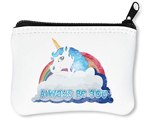 Unicorn Always Be You Design Reißverschluss-Geldbörse Brieftasche Geldbörse