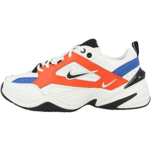 Nike M2k Tekno, Chaussures de Fitness Homme, Multicolore (Summit White/Black/Team Orange 100), 44 EU