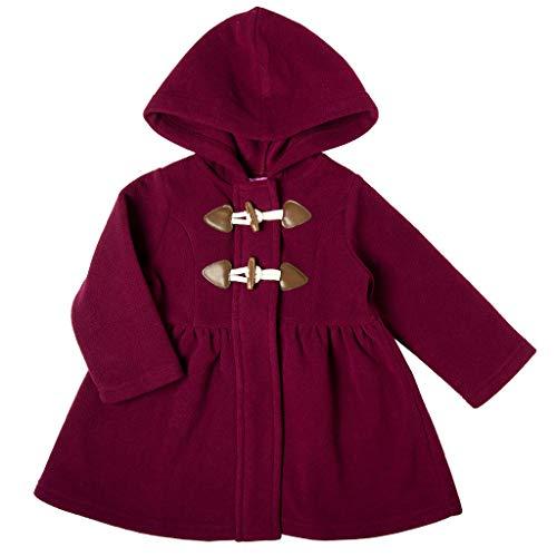 Good Lad Infant Girl Burgundy Hooded Fleece Coat with Toggles (12M)