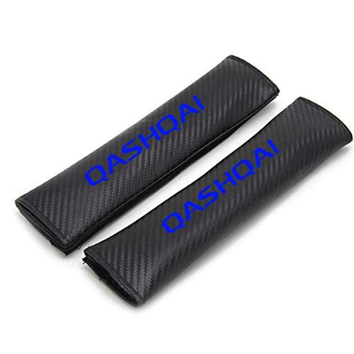 TYMDL 2 Stück Karbonfaser Auto Sicherheitsgurt Schulter-Pads Gurtpolster für Nissan Qashqai All Models, Rennsport Styling Schulter Gurtschutz Abdeckung