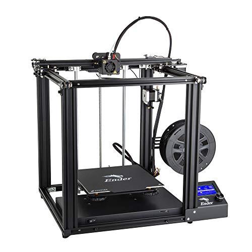 Impresora 3D CREALITY Ender de 5 motores de dos ejes y placa de construcción magnética.