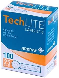 Techlite Lancets ( LANCET, 25GA, TECHLITE, STERILE ) 100 Each / box