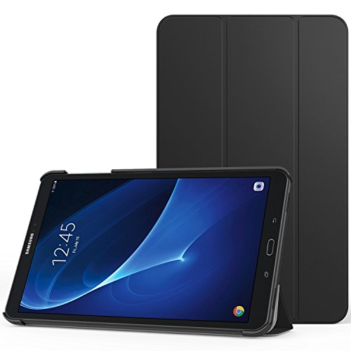 MoKo Galaxy Tab A 10.1 Funda - Ultra Slim Lightweight Función de Soporte Protectora Plegable Smart Cover Durable Auto Sueño/Estela para Galaxy Tab A6 10.1(SM-T580/T585, sin Lápiz), Negro