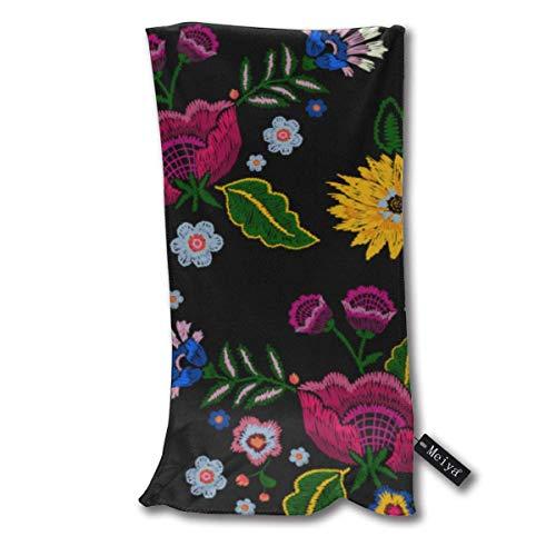 QHMY Native Simplify Flowers Beauty Fashion Mexican Serviettes de Plage Serviette de Plage Instant Cool Cool Ice Towel Gym Quick Dry Towel Microfibre Towel Cooling Sports Towel 12 X 27.5 inch