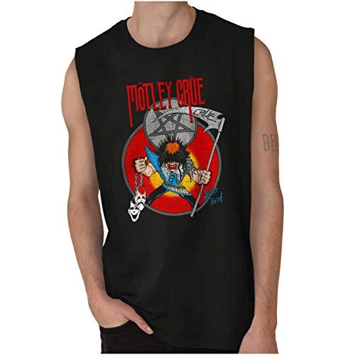Motley Crue Rock Mascot Allister Fiend 80s Sleeveless T Shirt Black