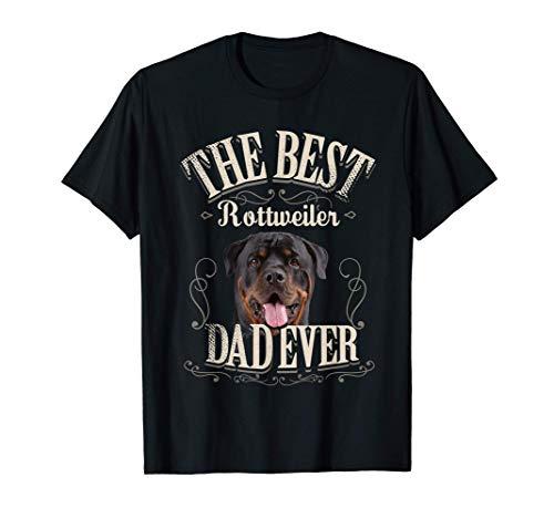 Hombre Mejor Rottweiler Perro Papá Qué gracioso Regalo Vintage Dog Camiseta