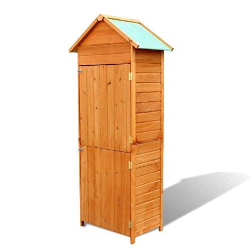 mewmewcat Gerätehaus Geräteschuppen Gartenschrank Geräteschrank aus Holz 79 x 49 x 190 cm Wasserfest