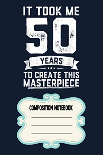 Funny 50 Years Old Joke 50th Birthday Gag Gift Idea VR Notebook: 120 Wide Lined Pages - 6