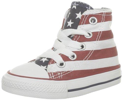 Converse Stars & Bars Hi 020820-21-3, Sneaker Unisex bambini, Bianco (Weiß (Blanc/Bleu/Rouge)), 23
