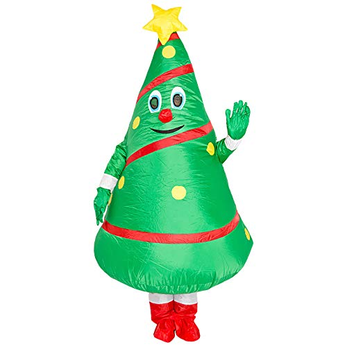 jieGorge Juguete Inflable, Disfraz de mueca de Dibujos Animados de rbol de Navidad, Accesorios de Vestir de Pap Noel Inflable de Anime, Juguetes y Pasatiempos (como se Muestra)