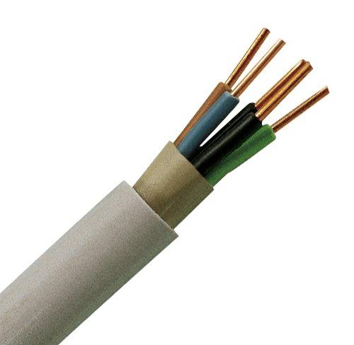 Kopp 153205844 Mantel-Leitung NYM-J, 5 x 2.5 mm², 5 m, grau