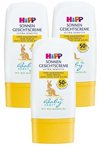 Hipp Babysanft Sonnen Gesichtscreme LSF 30, 3er Pack (3 x 30ml)