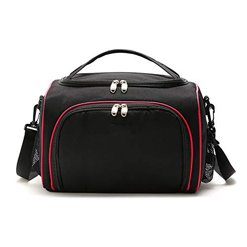 HO-TBO Picknick-Beutel, Double Lunch Box Bag Schwarz Streamline Lunch Bag Tragbare Isolierung Picknicktasche Car Ice Pack Multi-Color Optional Tragbares Outdoor-Tisch & Picknickgeschirr (Farbe : Rot)