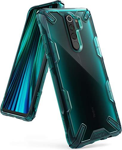 Ringke Fusion-X Designed für Xiaomi Redmi Note 8 Pro Hülle [Turquoise Green Grün] Doppelte Hybrid Schutz vor PC + TPU mit Ketten Loch