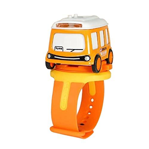 HGJINFANF Enfants Regarder Une Montre pour Enfants Dessin animé Détachable Alliage Modèle Induction Son Induction (Color : Orange)