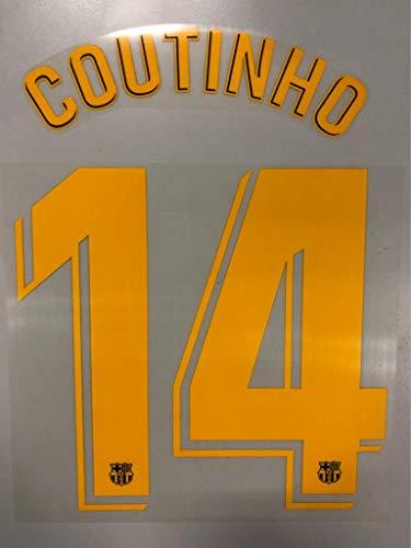 Flock Original FC Barcelona Trikot 25cm - Coutinho 14