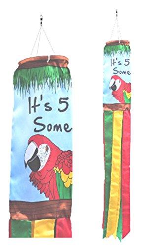 """Windsack """"It 's 5O'Clock Somewhere"""", Tiki-Bar Stil, Schild für einen Shop, 150 cm lang"""
