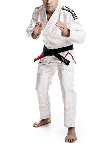 mmasport - Kimono BJJ Brazilian Jiu Jitsu Gi, 100% algodón, 450 g, Rip Stop Natural Fighting Style Top Italian Quality, Bianco, A4