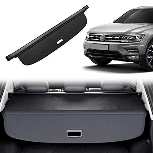 OREALTOOL Laderaumabdeckung Kofferraum Schutz Abdeckung Cargo Cover für Volkswagen Vw Tiguan 2009-2015 Schwarz Ausziehbar Kofferraumabdeckung Rollo