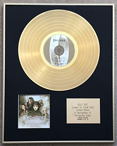 Century Music Awards - El Señor de los Anillos – Edición Limitada CD recubierto de oro de 24 quilates – The Fellowship of the Ring (banda sonora original)