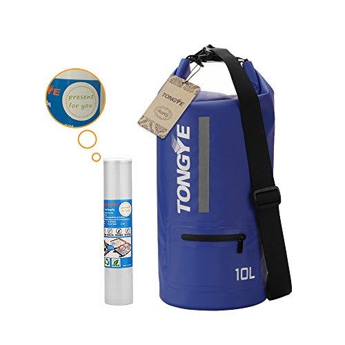 Tongye Sac sec de rangement étanches pour les sports nautiques en plein air S Blue (With Travel Storage Bag)