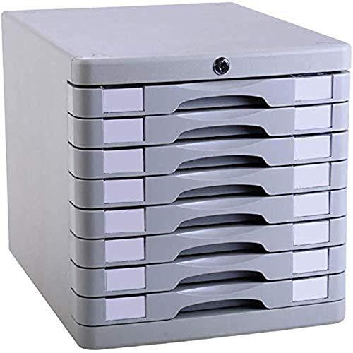 Ablageschränke Aktenschränke Vertikal 8 Drawer Desktop Datenaufbewahrungsbehälter-Key Lock Büroschrank aus Kunststoff 28,2 * 36,5 * 28.5cm Home Office Möbel Bürobedarf