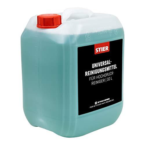 STIER Universalreinigungsmittel für Hochdruckreiniger, 10 Liter Gebinde, Konzentrat, materialschonend, für Fassaden, Steine, Oberflächen und Garten