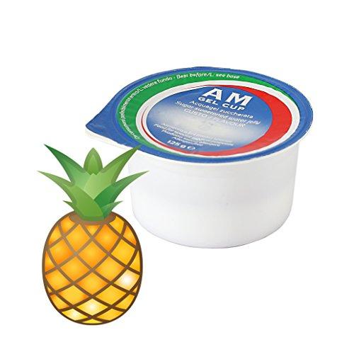 AM Gel Cup Acquagel Ananas con Zucchero Acqua Gelificata - 72 Vasetti da 125 g