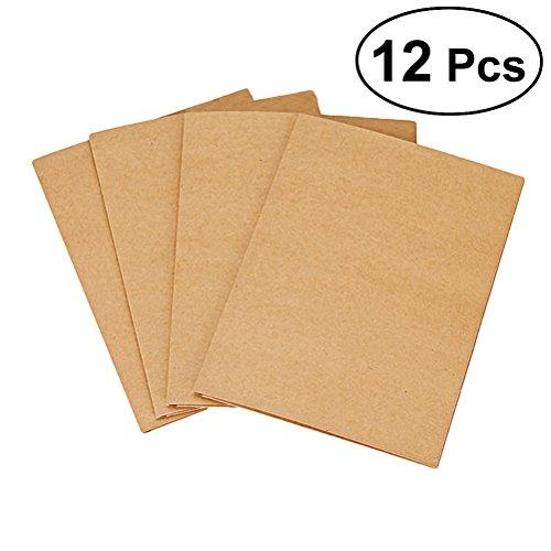 Carpeta de cartón solapa Carpetas de archivos Carpeta de documentos para documentos (12 unidades, A4, 2 bolsillos, papel kraft, carpeta para proyectos, carpeta de papelería)