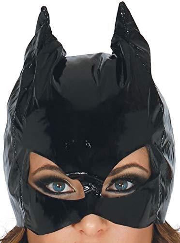 Guirca Fiestas Halloween Karneval Party Kostüm Damen Vinyl Katzenmaske Cat mask for Woman