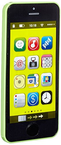 Bieco Lernspaß cooles Smart-Phone Handy mit 40 verschiedenen Sounds und blinkenden Lichtern im Apfel Design grün, fördert Entwicklung des Gehörs, ab 6 Monaten, 19069027