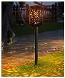 ZHMIAO Antorchas de luces solares con forma de llama, luz LED para jardín, al aire libre, camino, patio, fiesta nocturna, decoración, regalo de calentamiento.